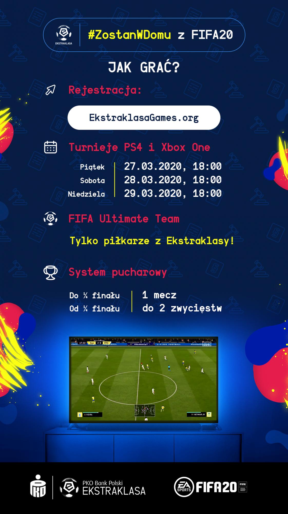 zostan fifa20 infografika 1585039854 - #ZostanWDomu z FIFA20 – zagraj w turnieju Ekstraklasy!