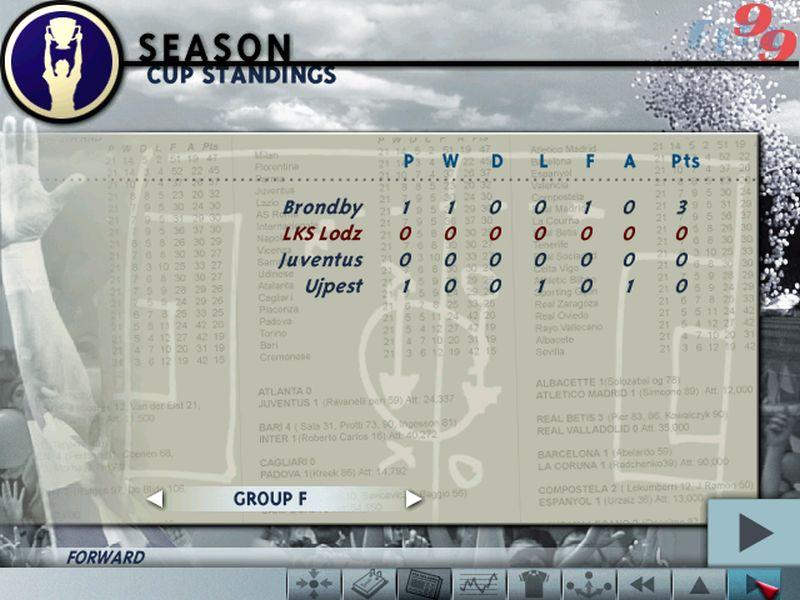 """10 fifa liga mistrzow - """"Czerwone Diabły"""" za burtą! Zobacz jak wyglądał ŁKS w grze FIFA 99"""