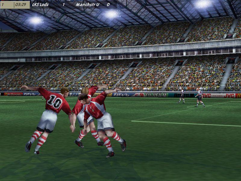 """8 fifa sagan cieszynka - """"Czerwone Diabły"""" za burtą! Zobacz jak wyglądał ŁKS w grze FIFA 99"""