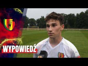 Mateusz Sowiński po sparingu z Rakowem Częstochowa (03.08.2020)