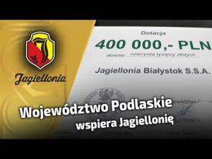Województwo Podlaskie wspiera Jagiellonię