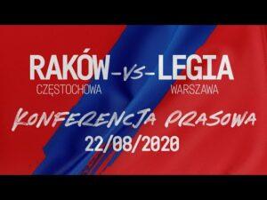 Konferencja po meczu Raków Częstochowa – Legia Warszawa