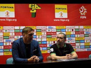 Konferencja prasowa po meczu Górnik – GKS Bełchatów