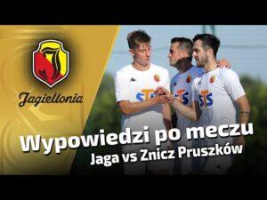 Wypowiedzi po meczu – Jaga vs Znicz Pruszków