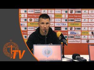 Konferencja prasowa po meczu Chrobry Głogów – Widzew Łódź