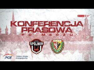 Konferencja prasowa po meczu PGE Spójnia Stargard – WKS Śląsk Wrocław