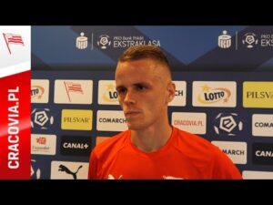 Dawid Szymonowicz po meczu ze Stalą Mielec (12.09.2020)