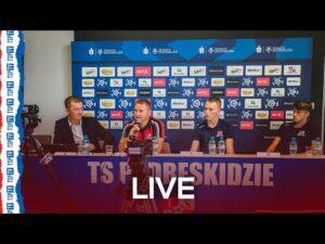 Wideokonferencja: prezes Kłys, trener Brede, Rundić, Kocsis, Frelek i Sitek