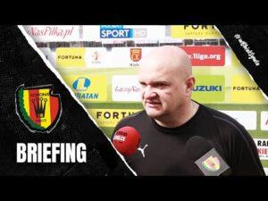 Trener Bartoszek przed meczem z Górnikiem Łęczna (18.09.2020)