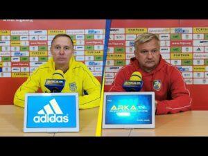 Arka Gdynia – Miedź Legnica 4-0: Konferencja prasowa