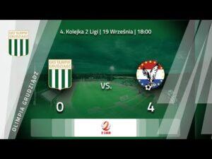 Skrót meczu Olimpia Grudziądz – Sokół Ostróda 0:4