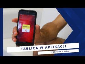 [MIEDŹ TV] Apka FORTUNA 1 LIGA – Tablica w aplikacji