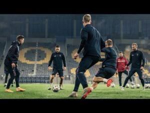 Tydzień do meczu z Lechią – Trening na stadionie