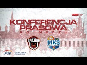 Konferencja prasowa po meczu PGE Spójnia Stargard – MKS Dąbrowa Górnicza