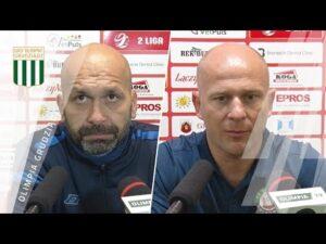 Konferencja prasowa po meczu Olimpia Grudziądz – Górnik Polkowice 0:1