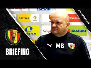 Trener Bartoszek przed meczem z ŁKS-em Łódź (16.10.2020)