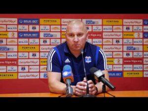 Konferencja po wygranej z GKS-em Jastrzębie.