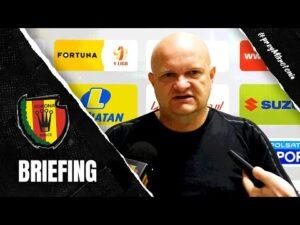 Trener Bartoszek przed meczem z GKS-em Tychy (02.10.2020)
