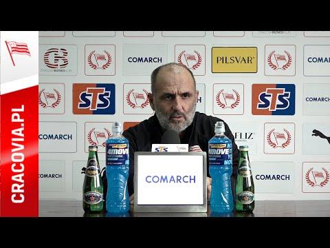Trener Michał Probierz przed meczem z Lechem Poznań (23.10.2020)