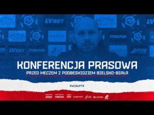 Konferencja prasowa przed meczem z Podbeskidziem Bielsko-Biała (23.10.2020)