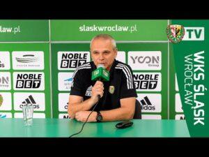 Konferencja prasowa trenera Lavički przed meczem z Jagiellonią