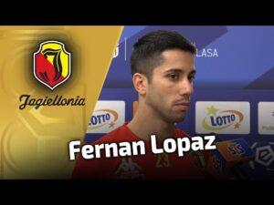 Wypowiedź przed meczem z Pogonią – Fernan Lopez