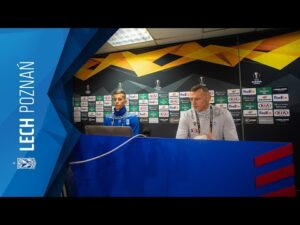 Konferencja prasowa LECHA POZNAŃ przed meczem z RANGERS FC