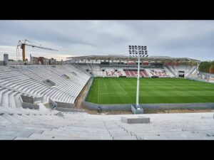Raport z budowy stadionu ŁKS | Październik 2020