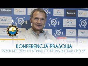 TV Stal: Konferencja prasowa przed meczem 1/16 finału Fortuna Pucharu Polski