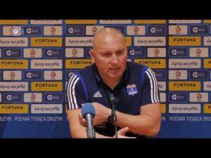 Konferencja po odpadnięciu z Pucharu Polski