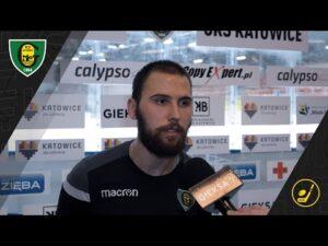 Patryk Krężołek po meczu GKS Katowice – JKH GKS Jastrzębie 2:5 (30 10 2020)