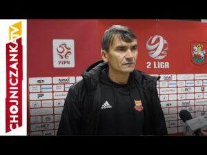 Trener Adam Nocoń po meczu Sokół Ostróda – Chojniczanka
