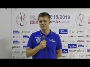 Klaudia Kaczorowska i Mateusz Czerwiński po meczu z #VolleyWrocław