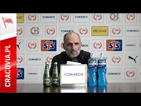 Trener Michał Probierz przed meczem z Jagiellonią Białystok (06.11.2020)