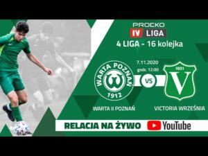 Transmisja meczu: Warta II Poznań – Victoria Września