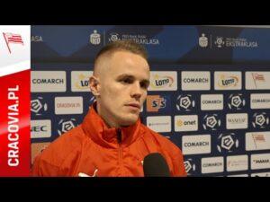 Dawid Szymonowicz po meczu z Jagiellonią Białystok (07.11.2020)
