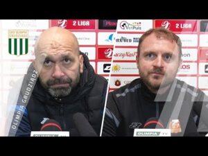 Konferencja prasowa po meczu Olimpia Grudziądz – Znicz Pruszków 1:1