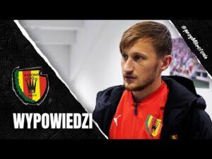 Basiuk i Kordas po meczu z ŁKS-em Łódź (11.11.2020)