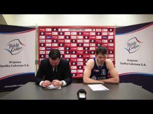 Konferencja po meczu Polski Cukier Toruń – MKS Dąbrowa Górnicza