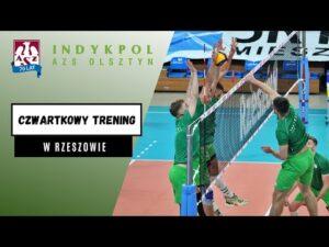 Trening przed meczem z Asseco Resovią