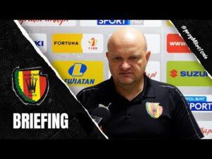 Trener Bartoszek przed meczem z Sandecją Nowy Sącz (13.11.2020)