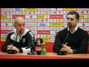2020-11-14 Korona Kielce – Sandecja 1-0 (1-0), Dariusz Dudek i Maciej Korzym