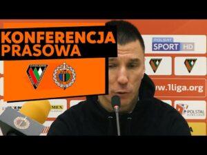 Konferencja prasowa po meczu Zagłębie Sosnowiec – Chrobry Głogów