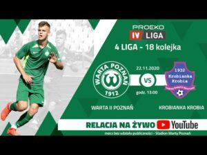 Transmisja meczu: Warta II Poznań – Krobianka Krobia