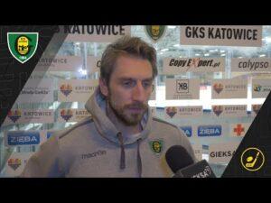 Patryk Wajda po meczu GKS Katowice – KH Energa Toruń 3:2 (22 11 2020)