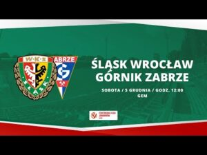 Śląsk Wrocław – Górnik Zabrze, CLJ U-18, 05.12.2020  TRANSMISJA