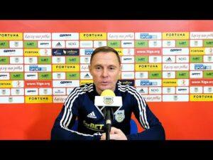 Trener Ireneusz Mamrot przed meczem z Koroną Kielce.