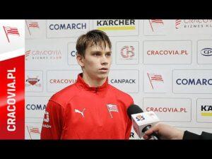 Mateusz Bezwiński po meczu z GKH Stoczniowiec Gdańsk (06.12.2020)