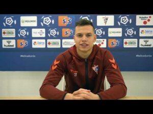 Adrian Gryszkiewicz przed meczem z Cracovią