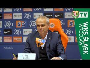 Vitezslav Lavička po meczu w Lubinie